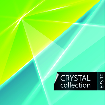 colored crystal triangle shapes vector background