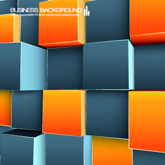colored cubes background vector