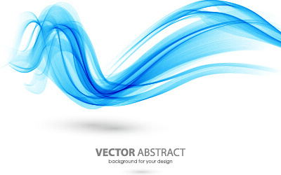 colored curved lines abstract background vector