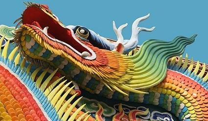 colored dragon picture