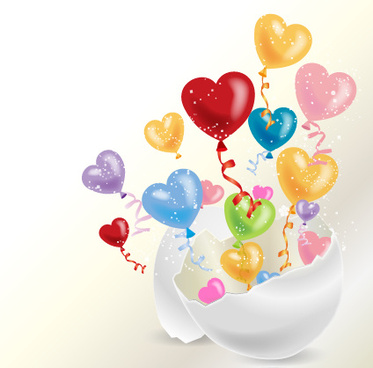 colored dream heart design vector
