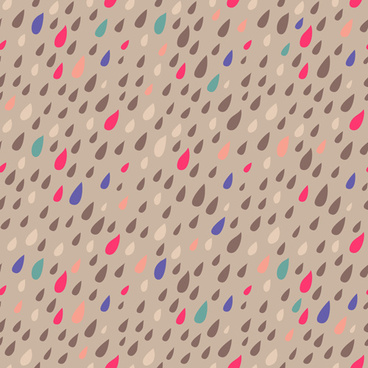 colored drops seamless pattern vector set