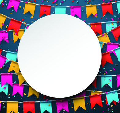 colored flag with confetti holiday background