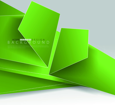 colored fold paper background vector