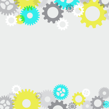 colored gear with white background vector