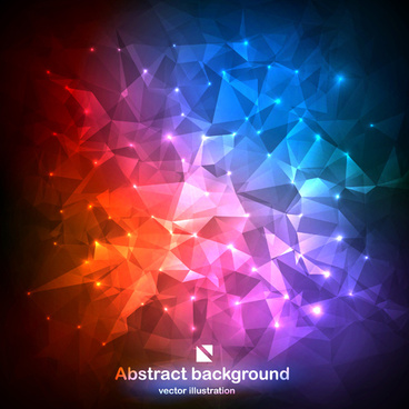 colored geometric shapes background
