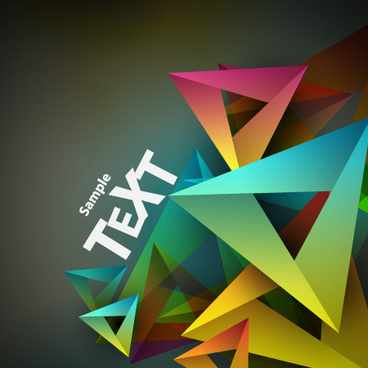 colored geometric shapes vector backgrounds