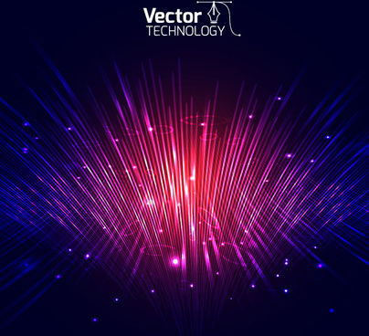colored glow tech vector background