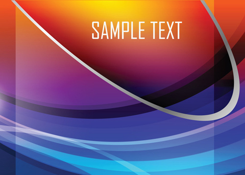 colored gradual change with abstract background vector