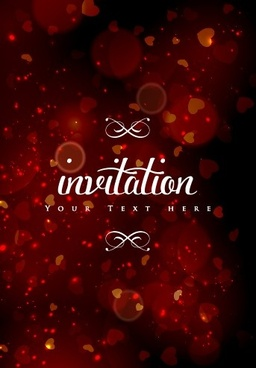 colored halation invitations background vector