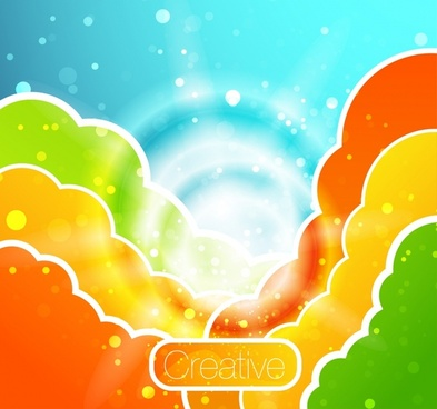 colored halo background vector illustration