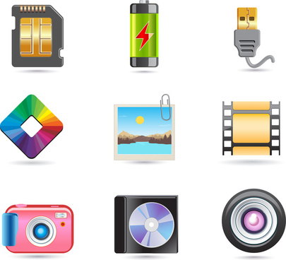 colored icons of digital appliances