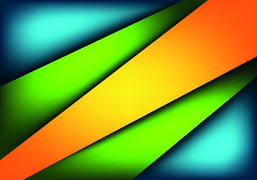 colored layers pattern background vector