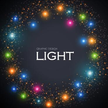 colored light dot frame vector