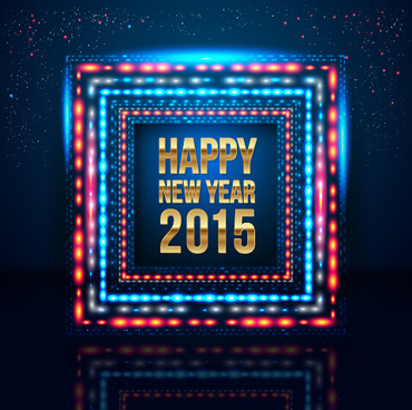 colored light with15 new year vector background