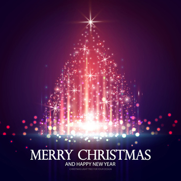 colored lights christmas tree background graphics