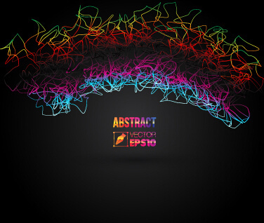 colored line abstract background art vector