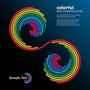 technology background colorful flat symmetric twisted shape