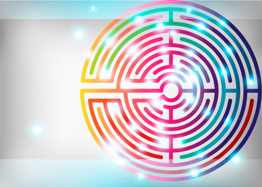 colored maze vector graphics