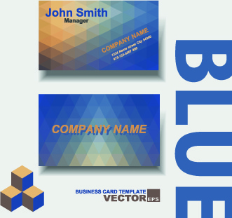 colored modern business cards vectors