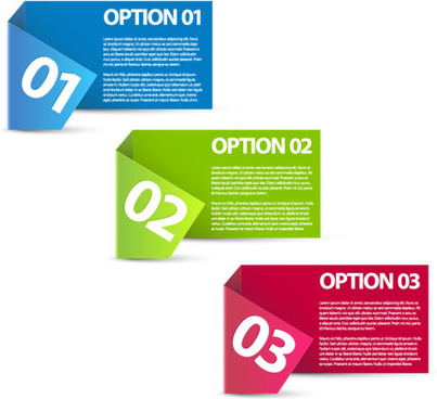colored number labels vector