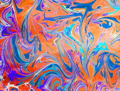 colored oil paint art backgrounds vector