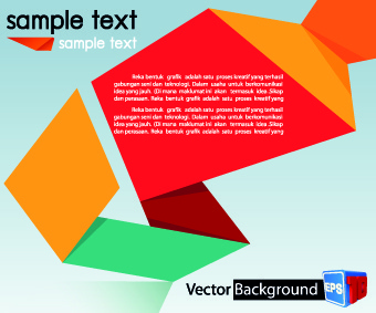 colored origami vector backgrounds