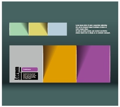 colored paper business background vector