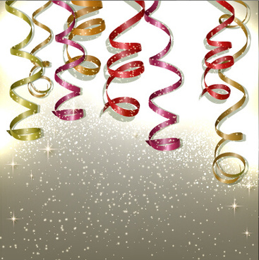 colored paper ribbon holiday background graphics