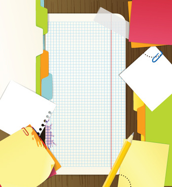 colored paper sheets background vector
