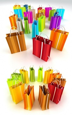 colored paper shopping bag definition picture