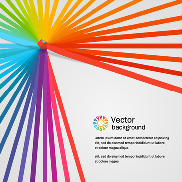 colored paper tapes vector background