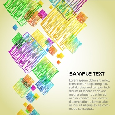 geometric background colorful flat handdrawn squares sketch