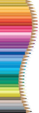 colored pencils background modern design swirled layout