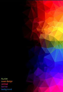 colored polygonal elements vector background