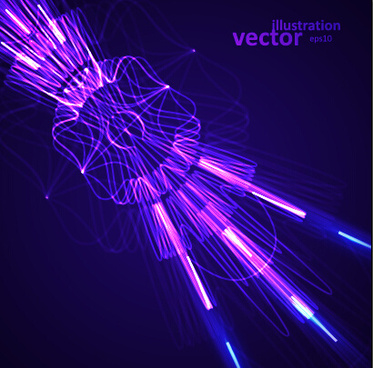 colored rays abstract vector illustration