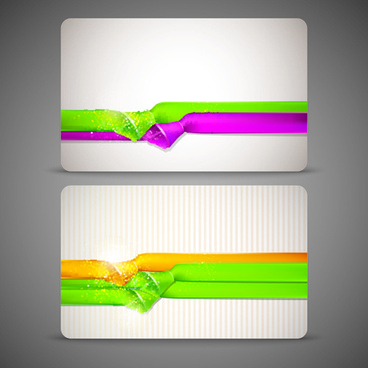 colored ribbon and banners vector
