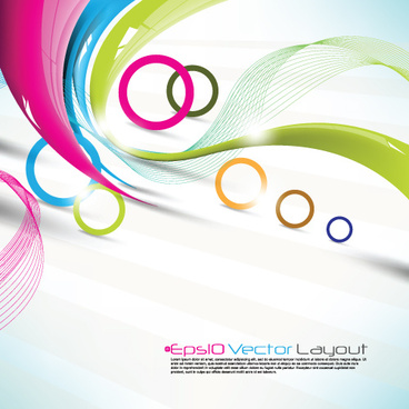 colored ribbon with circle background vector