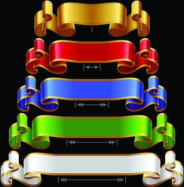 colored ribbons design vector