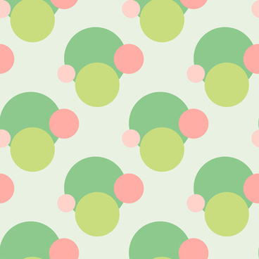 colored round dot vector seamless pattern
