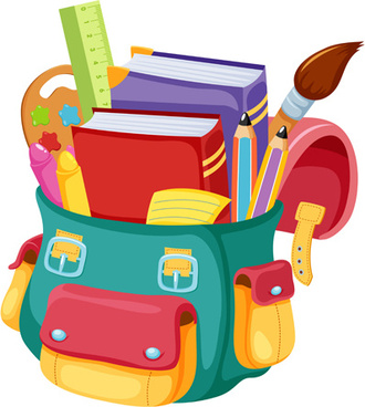 Back to school vector. Bags images free download