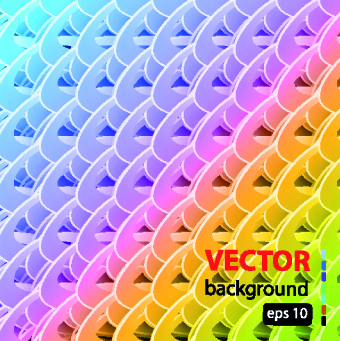 colored shapes vector background