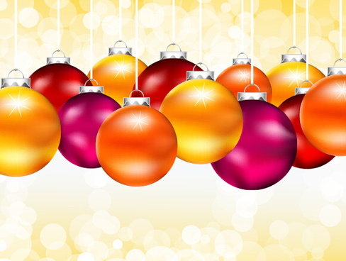 colored shiny christmas ball art background