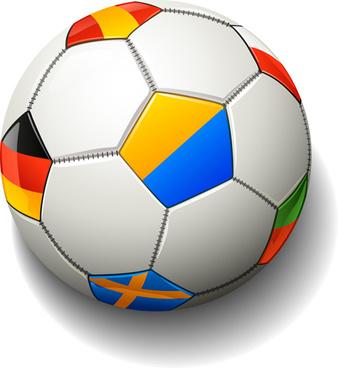 colored soccer design vector