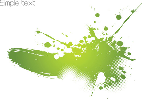 colored splash garbage vector background