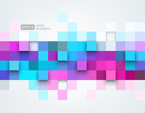 colored squares concept backgrounds vector