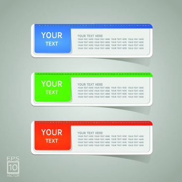 colored sticker label design vector