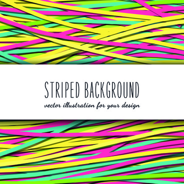 colored striped background vector graphics