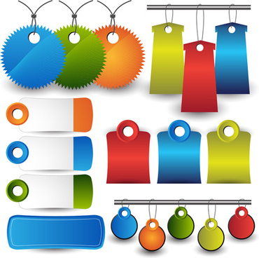 colored tags sale vectors graphics