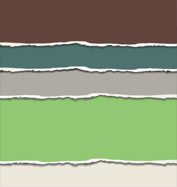 colored torn paper background vector template